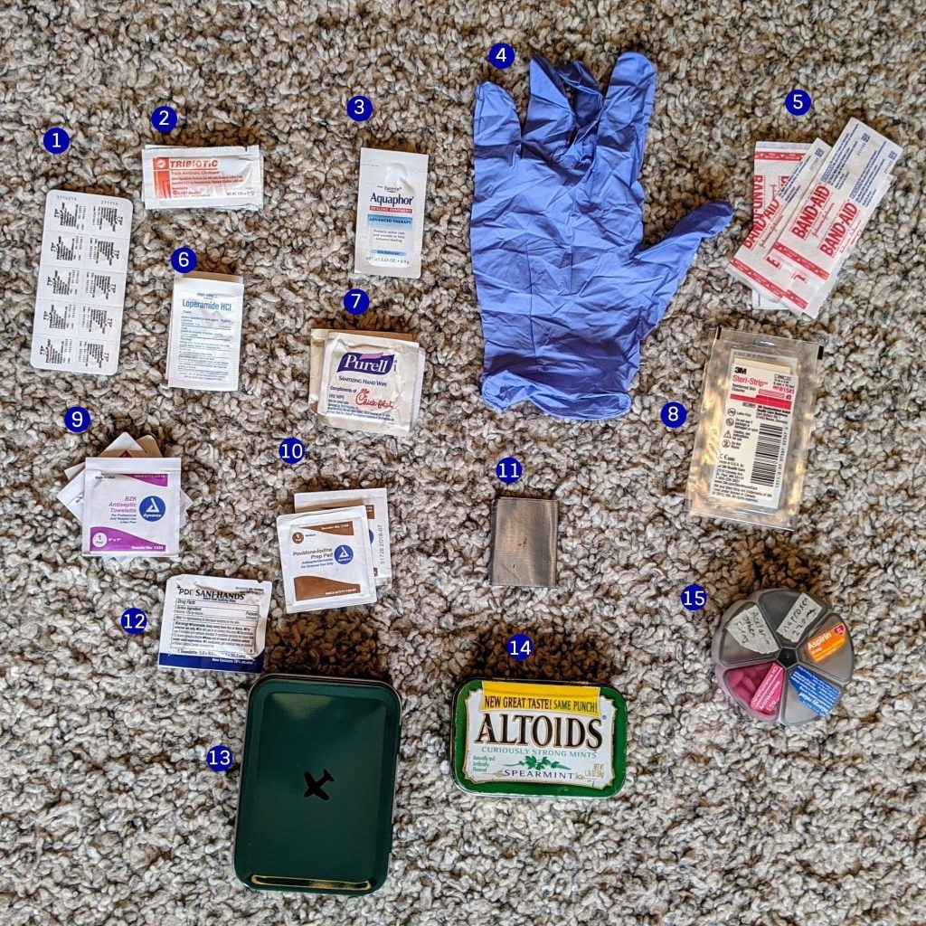 first aid before packing