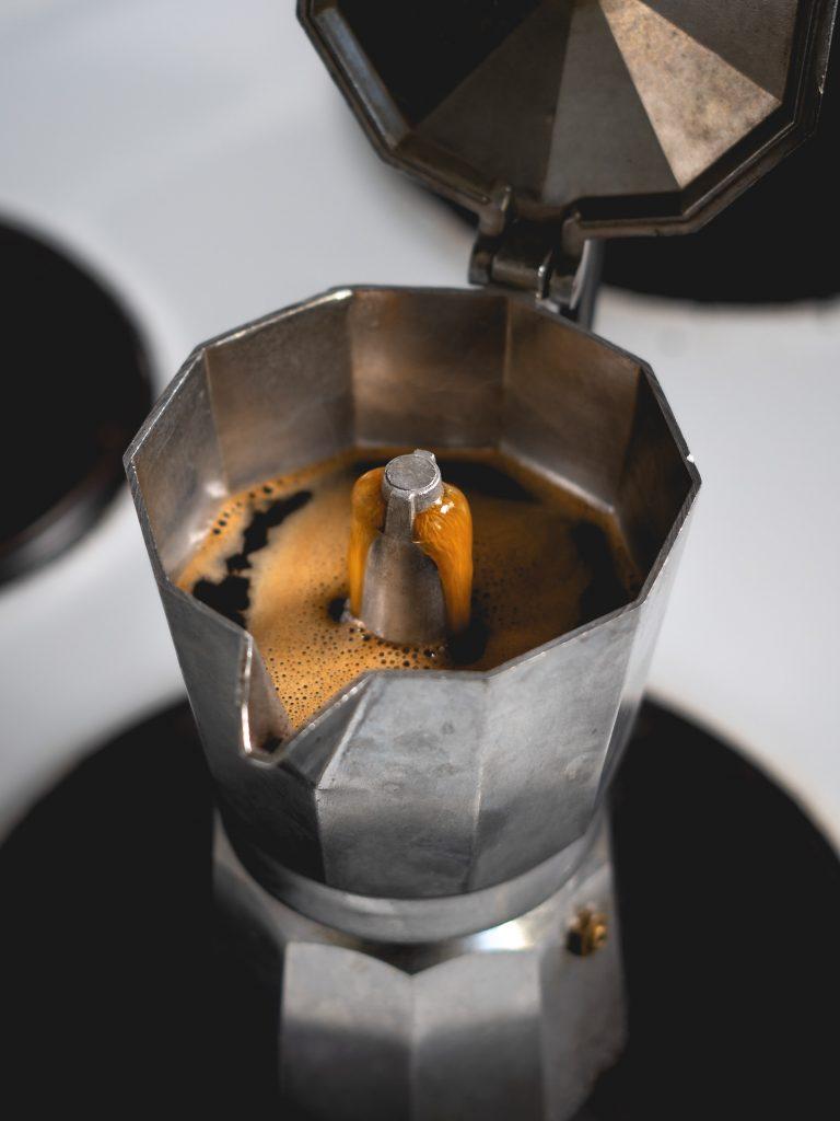 Moka Pot Open coffee